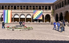 Click to view a panoramic image of Qorikancha, the Courtyard
