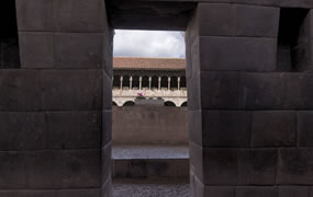 Click to view a panoramic image of Qorikancha, the Incan Room