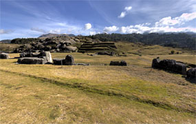 Click to view another panoramic image of Saqsaywaman