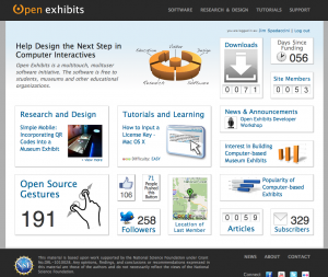 open exhibits dashboard design