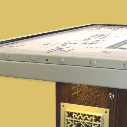 Steampunk-inspired multitouch hardware shows the growth of Union Pacific's rail lines