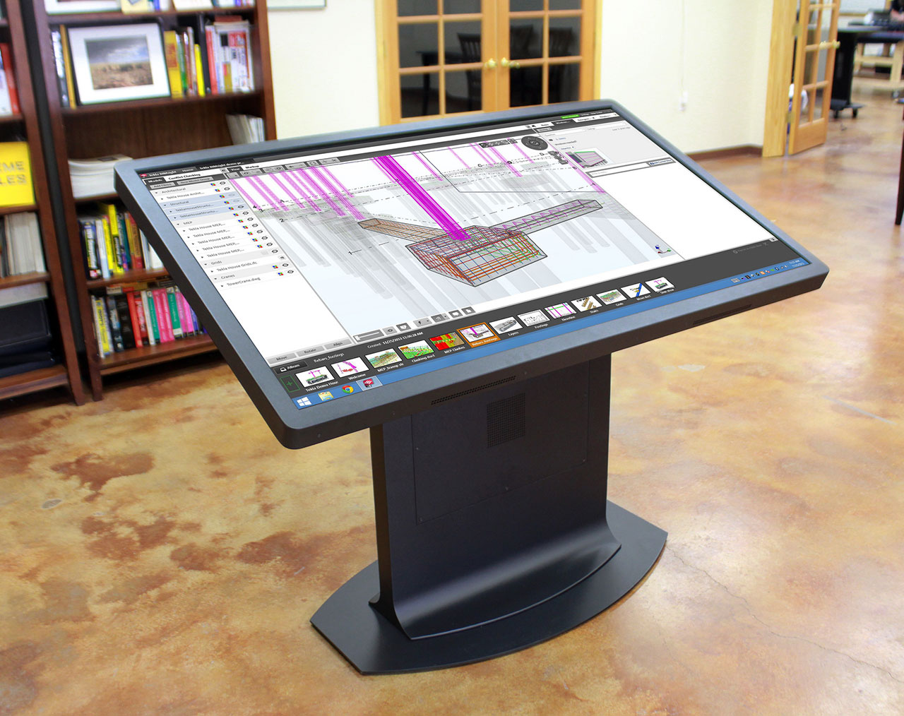 Image for the post: 'Multitouch Drafting Table: A New Take on the Mechanical Desk'