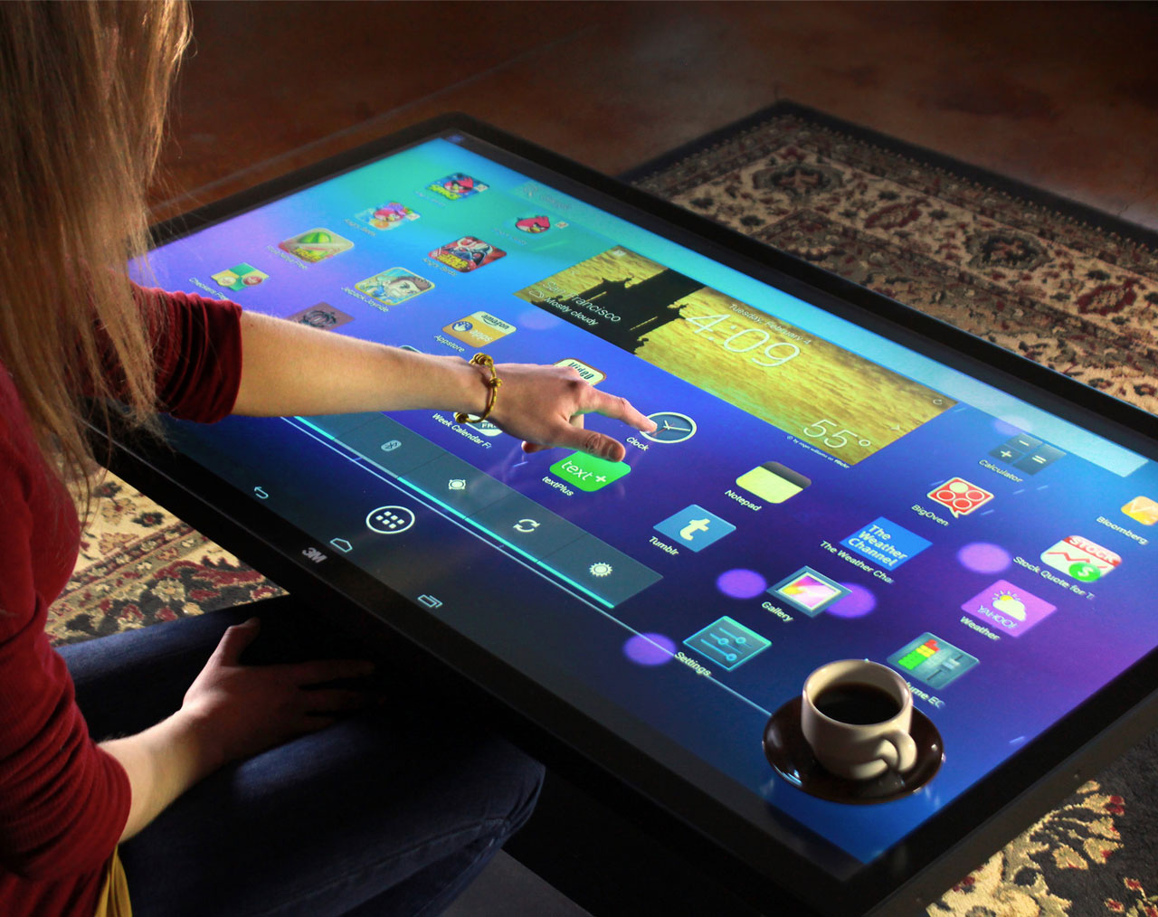 Ideum Platform 46 Multitouch Tables with 3M at SXSW Interactive