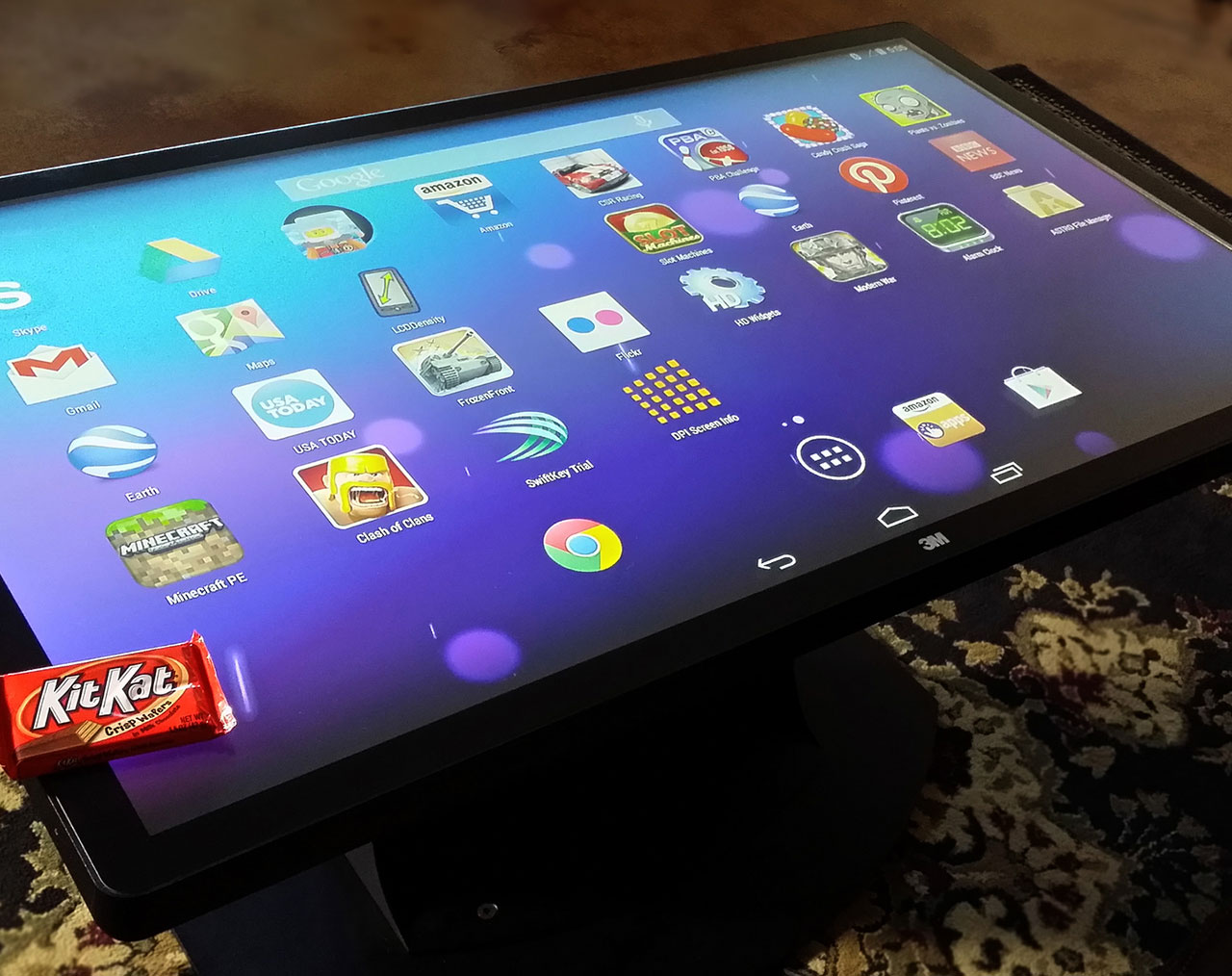 Sweet Deal Android KitKat OS On An Ideum Multitouch Coffee Table - Multitouch coffee table