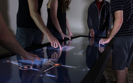Ideum Adds 4K UHD Platform 55 Drafting Multitouch Table to Rental Options