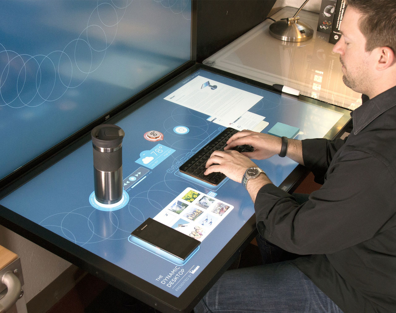 Image for the post: 'The Dynamic Desktop: Experimental Tangible Interfaces for Capacitive Touch Tables'