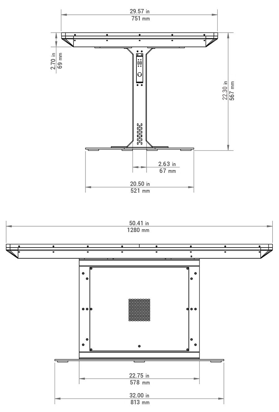 Duet Multitouch Table Dimensions