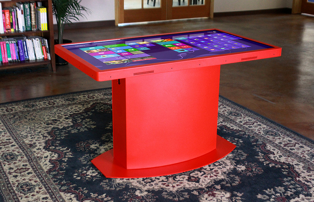 Red Multitouch Table