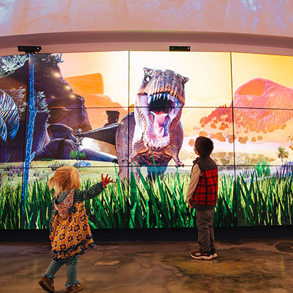 Image for the post: 'Interactive 3D Dinosaur Video Wall'